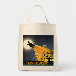 Flying Witch Trick or Treat Bag