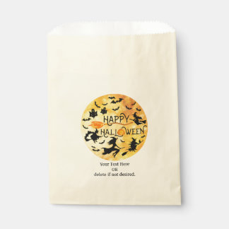 Flying Witches, Bats and Ghosts, HAPPY HALLOWEEN Favour Bag