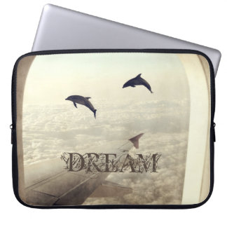 Flying with Dolphins Laptop Sleeve