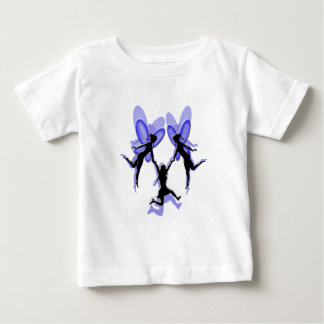 flying with fairies baby T-Shirt