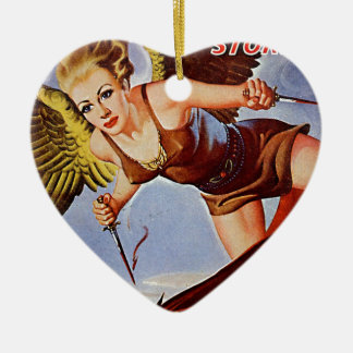 Flying Woman Ceramic Ornament