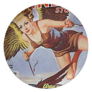 Flying Woman Plate