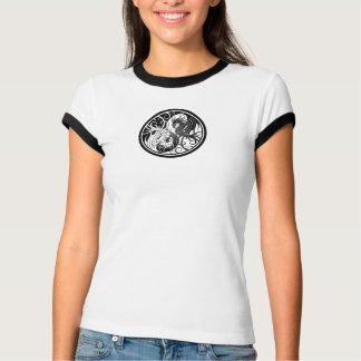 Flying Yin Yang Dragons - black T-Shirt