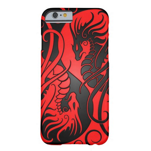 Flying Yin Yang Dragons - red and black iPhone 6 Case