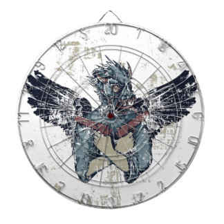 flying zombie with wings dartboard