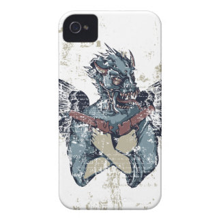 flying zombie with wings iPhone 4 case