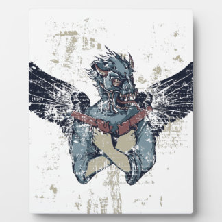 flying zombie with wings plaque