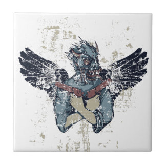 flying zombie with wings tile