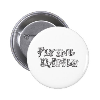 flyingdawgs stacked logo black and white pinback button