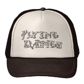 flyingdawgs stacked logo black and white hat