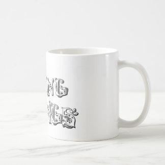 flyingdawgs stacked logo black and white coffee mug