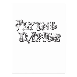 flyingdawgs stacked logo black and white postcard