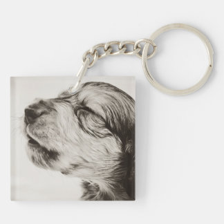 Flynn 4wks Double Photo Keepsake Key Ring