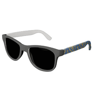 Flyology Lux Print blue Sunglasses