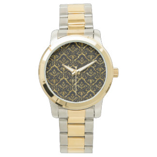 Flyology Lux Print two-tone watch