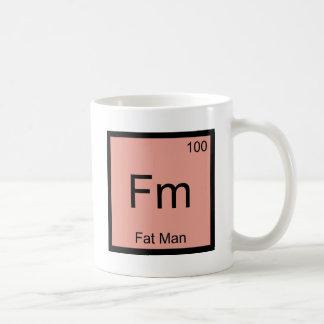 Fm - Fat Man Chemistry Element Symbol T-Shirt Basic White Mug