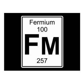 Fm - Fermium Postcard