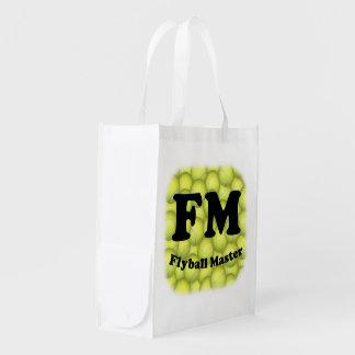 FM, Flyball Master Reusable Grocery Bag