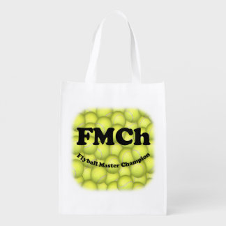 FMCh, Flyball Master Champion 15,000 Points Reusable Grocery Bag