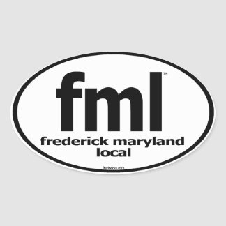 FML Frederick Maryland Local Decal Oval Sticker