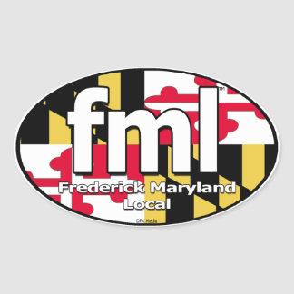 FML Maryland Flag Decal Oval Sticker