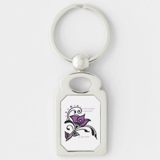 FMS Awareness 2015 Silver-Colored Rectangle Key Ring