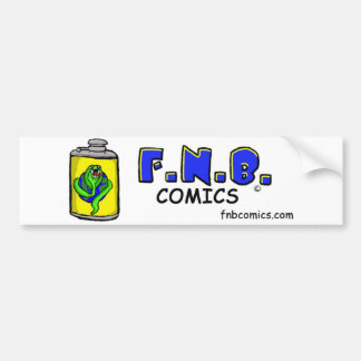 FNBcomics Flask Bumper Sticker
