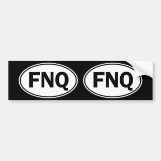 FNQ Oval Identity Sign Bumper Sticker
