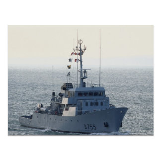 "FNS Lion"", French minesweeper, approaching Portsmo Postcard"