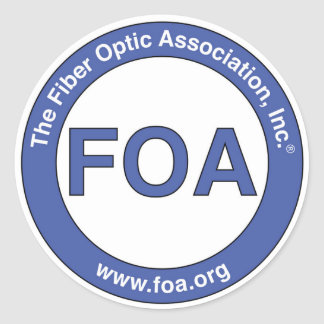 FOA large logo stickers