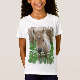 Foal Smelling Daisies Girl's T-Shirt