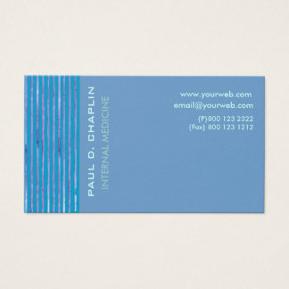 Foam Blue Cutting Edge Business Card