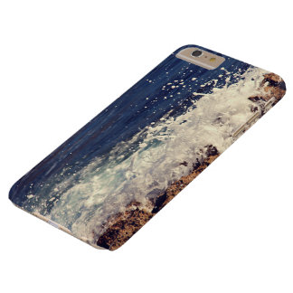 Foam Themed, Waves Of White Water Crash Against Ro Barely There iPhone 6 Plus Case