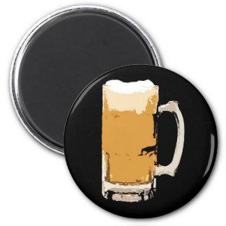Foamy Mug Of Beer Pop Art Magnet