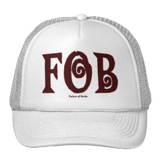 FOB (Father of Bride) Cap Brown Trucker Hat