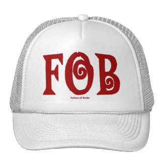 FOB (Father of Bride) Cap Red Trucker Hat