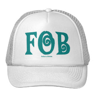 FOB (Father of Bride) Cap T Blue Trucker Hat
