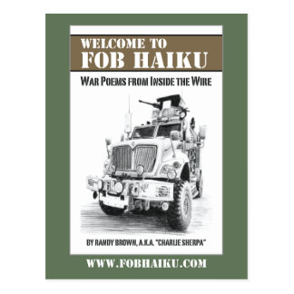 FOB Haiku book cover postcard