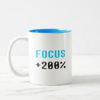 Focus 8 bit game buff mug