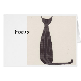 Focus Cat Card