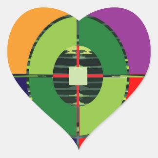 FOCUS Green Target EARTH  Global Warming NVN255 Heart Stickers