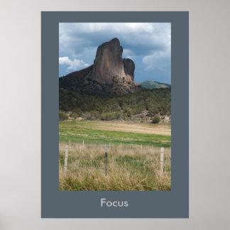 Focus Inspirational Colorado Landscape Poster