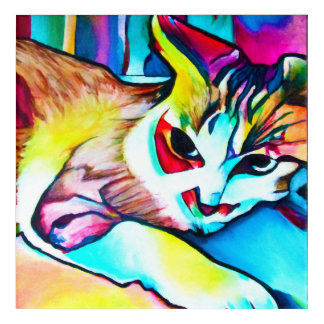Focus Kitty Painting Acrylic Wall Art
