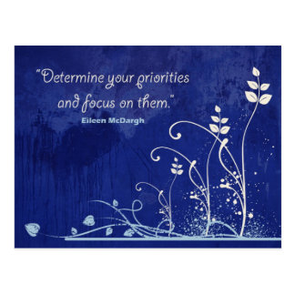Focus-Motivational Quote postcard