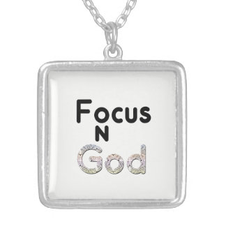 Focus on God Silver Plated Necklace