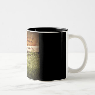 """Focus on the Journey"" Two-Tone Coffee Mug"