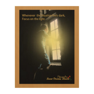 Focus on the light wood wall art