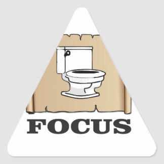 focus on the pot triangle sticker