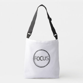 Focus Stylish Contemporary Typography Design Crossbody Bag