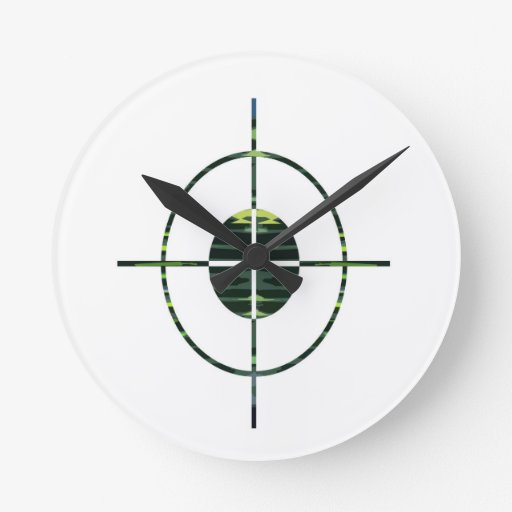 FOCUS Target GREEN Environment Clean Energy NVN252 Round Wall Clock